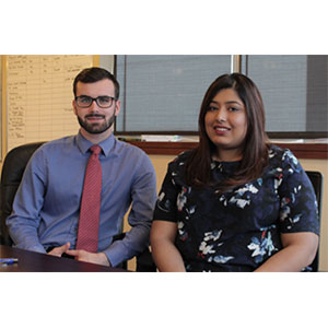 Sean Tait, Advisor & Sales Representative and Beenish Munawar, Real Estate Administrator