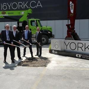 Groundbreaking for 16 York in Toronto.