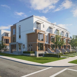 Evolv townhomes planned for Vancouver's Moodyville neighbourhood.