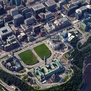 Parliament Hill and a portion of downtown Ottawa: CBRE story.