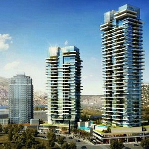 An artist's conception of the proposed One Water Street development in Kelowna, B.C.