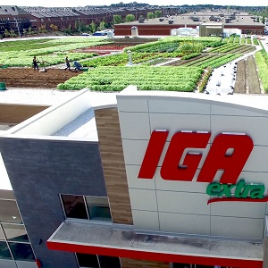 The IGA Extra Famille Duchemin in Montreal has taken the green roof concept one step further, partnering with La Ligne Verte to grow fresh vegetables on the roof -- then sell them in-store.