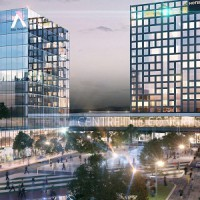 An artist's rendering of a portion of Devimco's Solar Uniquartier development in Montreal.
