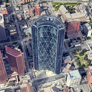 Calgary's iconic Bow tower has almost a half million square feet of floor space up for sublease by two of its major tenants.