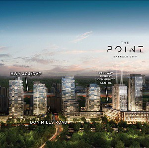 The Point is the final stage of the Emerald City development in Toronto created by Elad Properties.