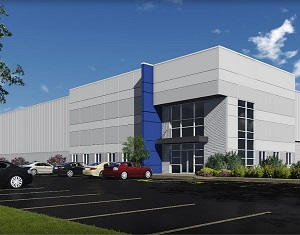 Bentall Kennedy, Highfield Investment Group and Hillwood are teaming up to build an industrial property on spec in Rocky View County just outside Calgary. (Image courtesy CBRE)