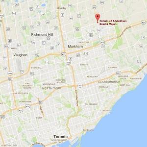 CIM International Group's Mackenzie Creek development is located in Markham, just north of Toronto. (Google Maps)