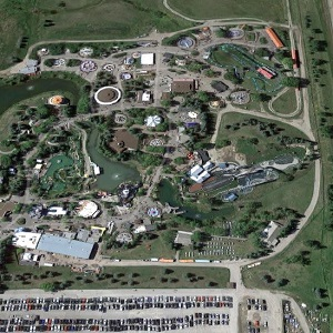 An aerial view of Calaway Park, located just outside Calgary, Alta. (Google Maps image)