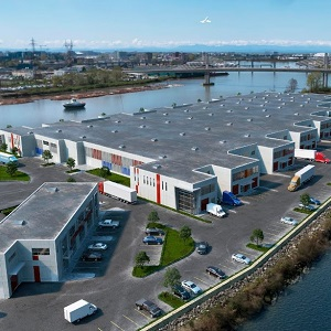 The IntraUrban Rivershore project by PC Urban Properties feature strata industrial property on a former heavy industrial site in B.C.'s Lower Mainland in Greater Vancouver.