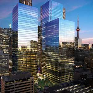IMAGE: Artist's rendering of the Brookfield Property Partners Bay Adelaide Centre in Toronto.