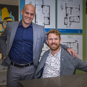 Jake Cohen, left, of The Daniels Corporation with Luke Anderson, founder of StopGap Foundation, launch the Daniels Accessibility Designed Program (ADP) in Toronto. (Spencer Wynn photo)