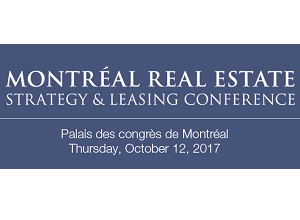 Montreal Real Estate Strategy and Leasing Conference logo.