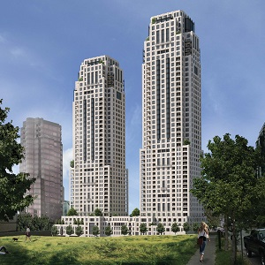Two developers plan to build the world's tallest Passive House project, towers reaching 48 and 43 storeys, in Vancouver.