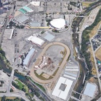 The Calgary Municipal Land Corporation will unveil its Victoria Park Master Plan in January, RENX has learned. The lands, adjacent to the Calgary Stampede property, will include provision for a new arena to replace the Flames' Calgary Scotiabank Saddledome (shown).