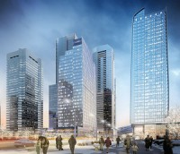 The ICE District in Edmonton is leading a rejuvenation in the city's downtown. Its two office towers are both more than 90 per cent leased and one of them is still being constructed.