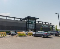 A retail power centre on F.X. Sabourin Blvd. in St. Hubert, on the South Shore of Montreal, purchased recently by BTB REIT.