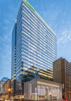 The newly opened, 27-storey Maison Manuvie office tower in downtown Montreal.