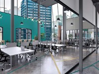 Spaces, a company owned by Regus, is expanding into Canada. Its first office will be located on Toronto's Queen St. West.