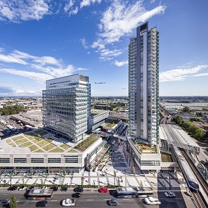 The Marine Gateway mixed-use development in Vancouver is one of two Canadian winners of an ULI global award. (Rendering courtesy Marine Gateway / Perkins+Will Vancouver)
