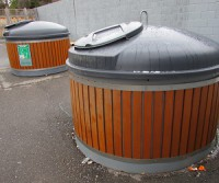Molok waste containers, which are built semi-underground, are becoming increasingly popular.