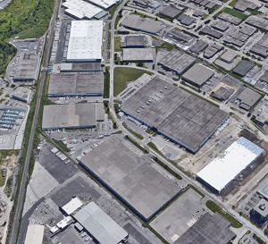Image shows an industrial area in the west end of Toronto / GTA .