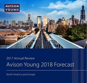 The Avison Young 2018 North America and Europe Commercial Real Estate Forecast.