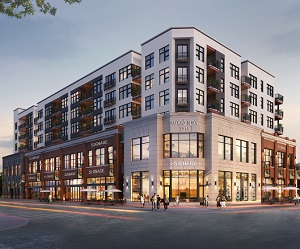 The Raymond Block is a mixed-use development in Edmonton's Strathcona district, being built by Wexford Developments.