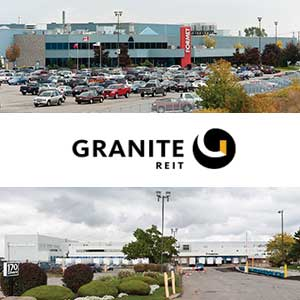 1 Cosmo Court (top) and 170  Edward St. (lower) in St. Thomas, Ontario courtesy of the Granite REIT website.