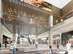 An artist's conception of the interior of the Montreal Eaton Centre after a $200-million development by Ivanhoé Cambridge.