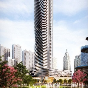 Pinnacle International's 65-storey condominium tower The Prestige at Pinnacle One Yonge.