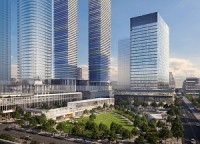 An artist's rendering of the Sugar Wharf site in downtown Toronto. Menkes Developments and partners Greystone Managed Investments, and Triovest Realty Advisors. have broken ground on the mixed-use project.