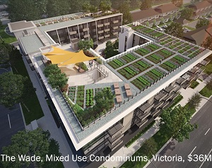 The Wade, a residential condo project in Victoria, B.C. (Rendering courtesy R2)