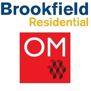 Logos of Brookfield Residential Properties and OliverMcMillan.