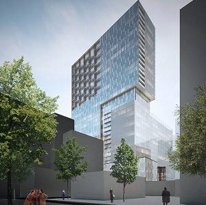 The Humaniti development in Montreal, by Cogir Immobilier, includes a hotel, condos, multi-res housing, office and retail.