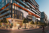 Dundee Kilmer is developing two new condo towers in Toronto's waterfront Canary District, Canary Commons (shown) and Canary Block. (Image courtesy Dundee Kilmer)