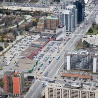 The Newtonbrook Plaza in Toronto will soon be demolished to make way for a mixed-use residential, office and retail community by Aoyuan Property Group.