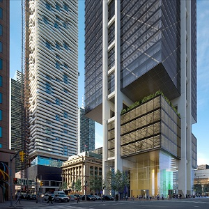 Oxford Properties chose architects Rogers Stirk Harbour + Partners to design the HUB, a 1.4M square foot commercial tower at 30 Bay Street in Toronto.