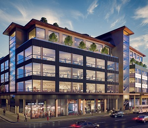 The Maker Exchange is one of two new office developments planned in the historic Railtown district of Vancouver.