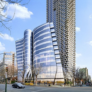 The Offices at Burrard Place (front building) in downtown Vancouver, is being constructed by Reliance Properties.