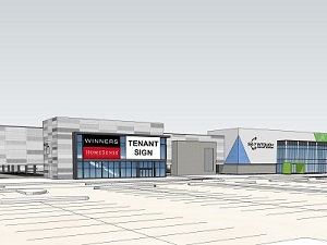 Manitoba property developer and manager Shindico is set to breathe new life into the former Target store near the city's airport. This rendering shows the proposed look for Plaza at Polo Park.