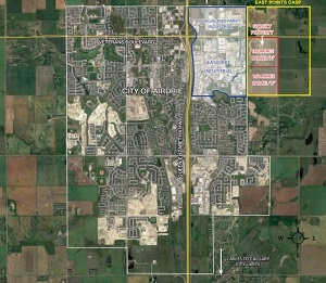 NAI Advent is listing two 160-acre plots of land for future development adjacent to the Highland Park industrial area of Airdrie.