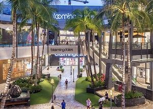 The Ala Moana Centre in Hawaii is the world's largest outdoor shopping centre. It is part of the GGP portfolio of properties.