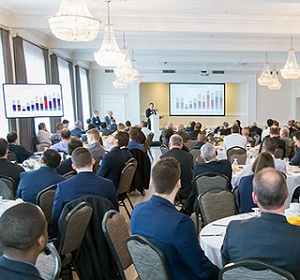 Colliers International presented a rosy 2018 outlook for commercial real estate in the Kitchener, Waterloo, Cambridge region during its recent market report breakfast.
