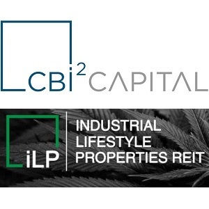 Logos for CBi2 Capital and Industrial Lifestyle Properties REIT.
