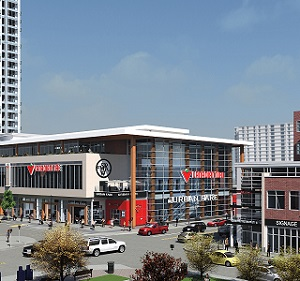 The Mount Royal West retail development in Calgary.