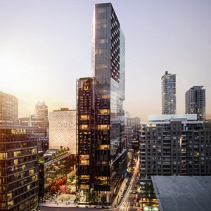 An artist's rendering of the $200-million, mixed-use Humaniti Montreal.