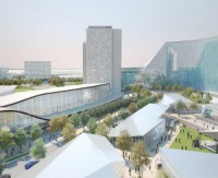 An artist's rendering of the Durham Live entertainment development proposed for Pickering, Ont.