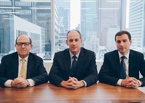 Vision Capital partners: Frank Mayer, Jeffrey Olin and Andrew Moffs.