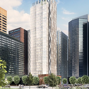 Image of the Dorian, to be constructed by PBA Land and Development. It will house two Marriott-branded hotels in downtown Calgary.