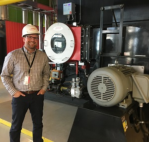 Image showing Jason Grabinsky, manager of business relationships for the district energy business with ENMAX, inside the company's Calgary facility.